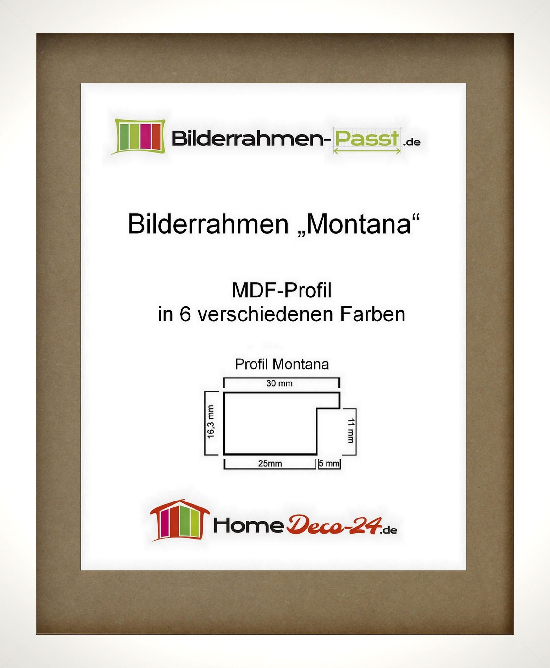 Bilderrahmen MONTANA Acrylglas klar Wahl: Farbe und Größe MDF Holz ...