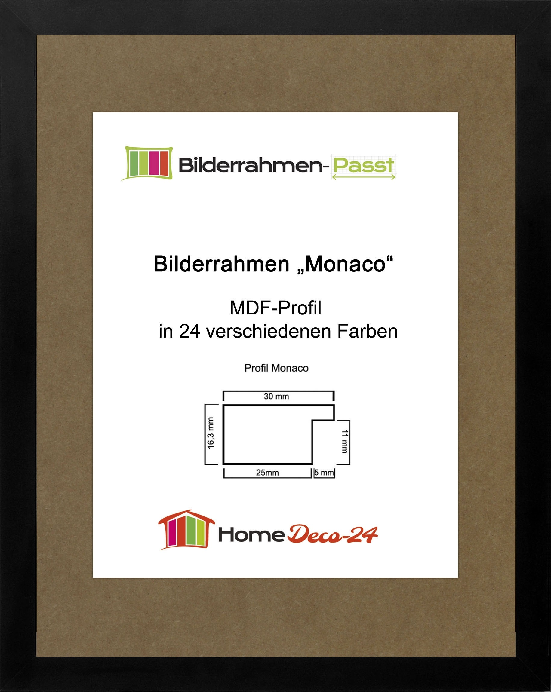 monaco 20 x 26 cm mdf bilderrahmen 26 20 cm wahl farbe und verglasung ebay. Black Bedroom Furniture Sets. Home Design Ideas