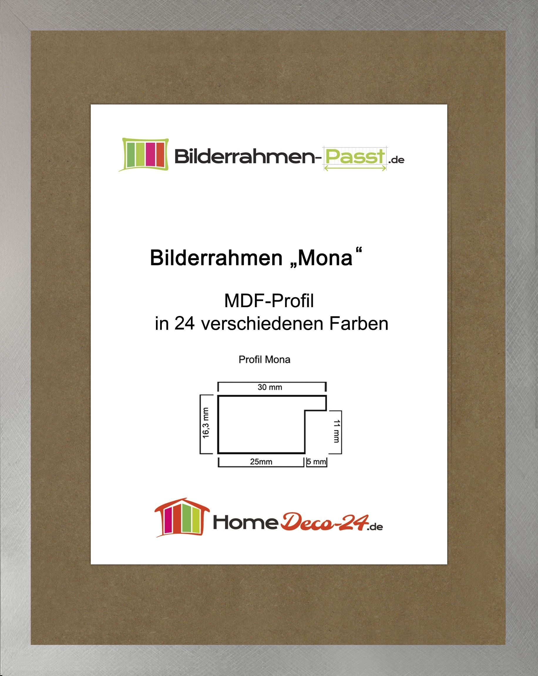 Mona 25 x 35 cm bilderrahmen homedeco 24 holzwerkstoff for Home deco 24