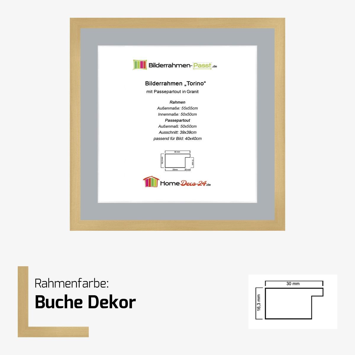 bilderrahmen torino farbwahl 50x50 cm passepartout granit f bild 40x40 ebay. Black Bedroom Furniture Sets. Home Design Ideas